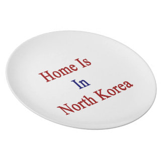 Home Is In North Korea Dinner Plate