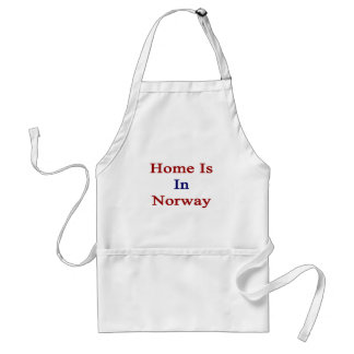 Home Is In Norway Adult Apron