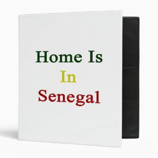 Home Is In Senegal. 3 Ring Binders