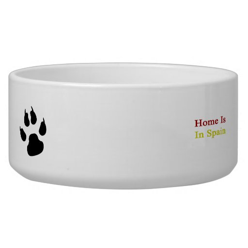 Home Is In Spain Dog Water Bowls