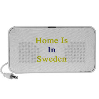 Home Is In Sweden Laptop Speaker