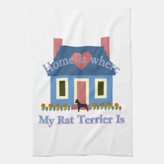 Home Is Rat Terrier Hand Towel