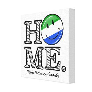 Home is Sierra Leone Housewarming Canvas Print