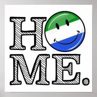 Home is Sierra Leone Housewarming Poster