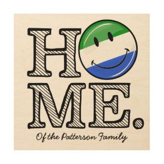 Home is Sierra Leone Housewarming Wood Print