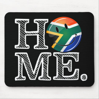 Home is South Africa Smiling Flag Housewarming Mouse Pad