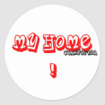 HOME IS ... STICKER