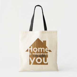 Home is tote bag