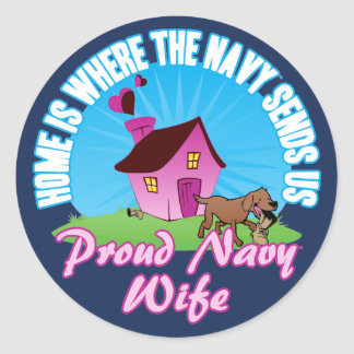 Home Is Where... Classic Round Sticker