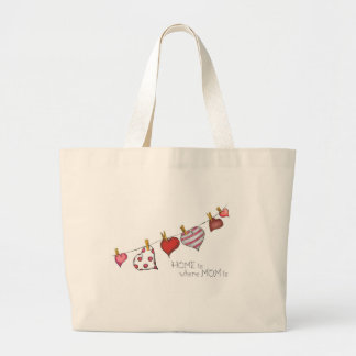 Home is where Mom is - Design for Mom Large Tote Bag