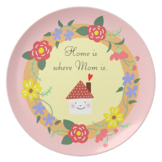Home is where Mom is Plate Pretty Decorative Plate