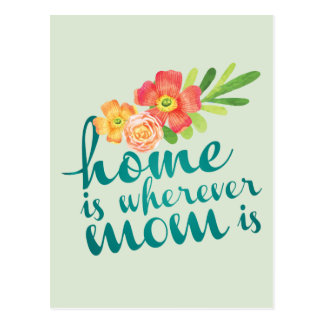 Home is where mom is postcard
