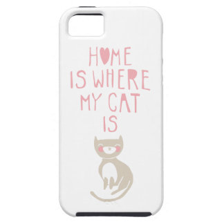 """Home is where my cat is"" iPhone SE/5/5s Case"