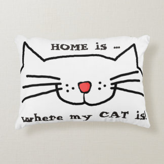 Home is where my cat is Pillow