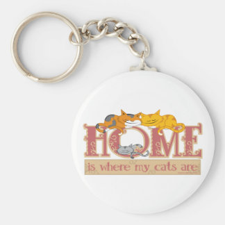 Home Is Where My Cats Are Keychain