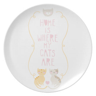Home Is Where My Cats Are Plates