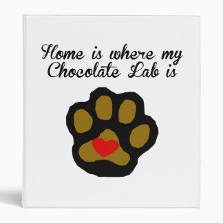 Home Is Where My Chocolate Lab Is Binder