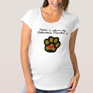 Home Is Where My Doberman Pinscher Is Maternity T-Shirt