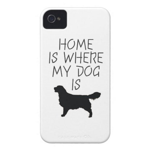 Home is Where my Dog is (Golden Retriever) iPhone 4 Case-Mate Cases