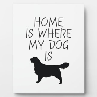 Home is Where my Dog is (Golden Retriever) Plaque