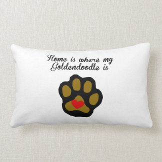 Throw Pillow Home Is Where The Doodle Is : Goldendoodle Pillows - Decorative & Throw Pillows Zazzle