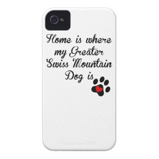 Home Is Where My Greater Swiss Mountain Dog Is iPhone 4 Cases