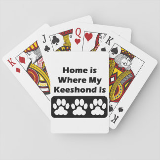 Home is Where My Keeshond is Playing Cards