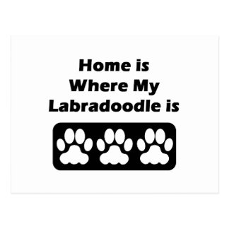 Home is Where My Labradoodle is Postcard