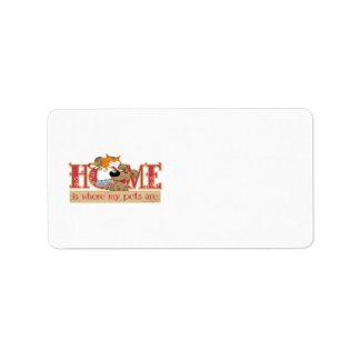Home Is Where My Pets Are Personalized Address Labels