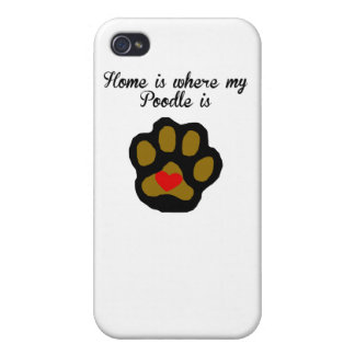 Home Is Where My Poodle Is iPhone 4/4S Cover