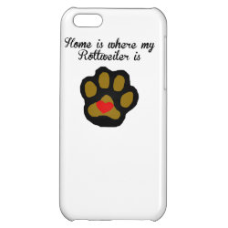 Case Savvy Matte Finish iPhone 5C Case with Rottweiler Phone Cases design