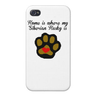 Home Is Where My Siberian Husky Is Case For iPhone 4