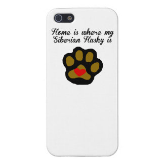 Home Is Where My Siberian Husky Is iPhone SE/5/5s Cover