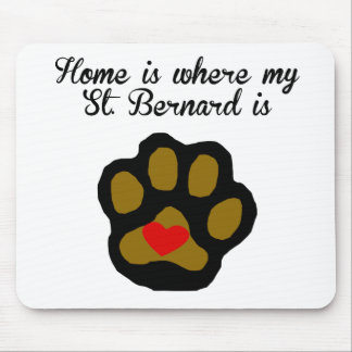 Home Is Where My St. Bernard Is Mouse Pad