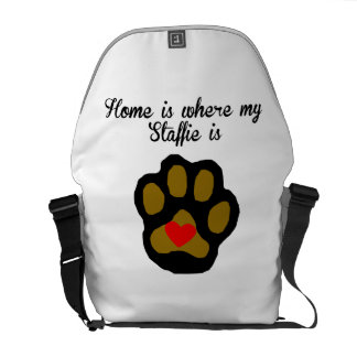 Home Is Where My Staffie Is Messenger Bag