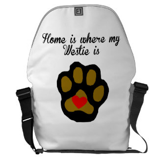 Home Is Where My Westie Is Courier Bag