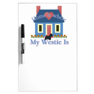 Home is Where My Westie Is Dry-Erase Board