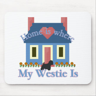 Home is Where My Westie Is Mouse Pad