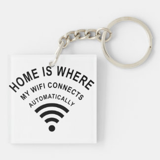 Home is where my wifi connects automatically keychain