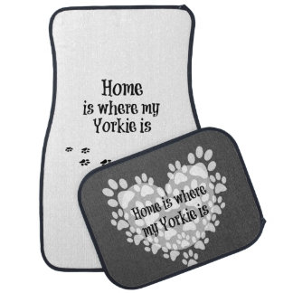 Home is where my Yorkie is Quote Car Mat