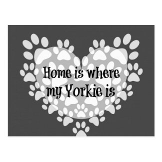 Home is where my Yorkie is Quote Postcard