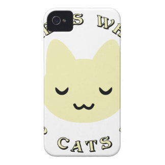 HOME IS WHERE OUR CATS NAP iPhone 4 Case-Mate CASE