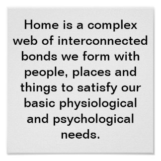 HOME IS WHERE... POSTER