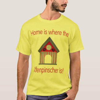 Home is where the Affenpinscher is (red) T-Shirt
