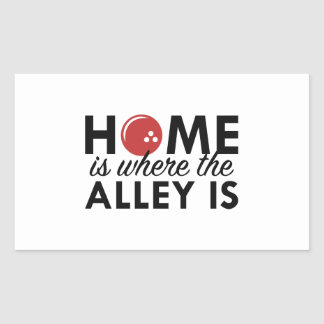 Home Is Where The Alley Is Rectangular Sticker