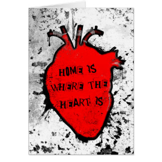home is where the anatomical heart is card