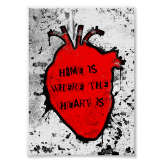 home is where the anatomical heart is poster