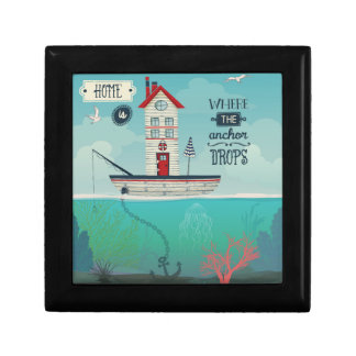 Home Is Where The Anchor Drops Jewelry Box