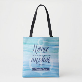 Home is Where the Anchor Drops (Personalized) Tote Bag