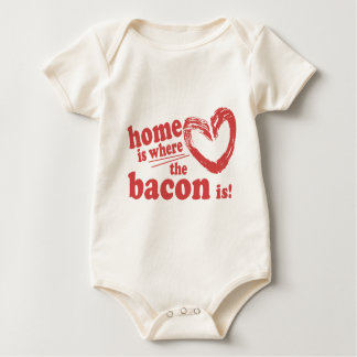 Home is where the Bacon is Baby Bodysuit